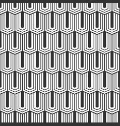 seamless pattern of elongated hexagons vector image