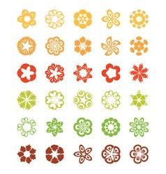 set flat icon flower vector image