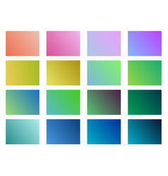 set of gradient backgrounds soft color vector image
