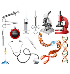 Set of laboratory tools and equipments vector image