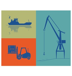 Shipping and cargo industry vector image