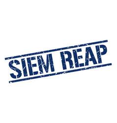 Siem reap blue square stamp vector