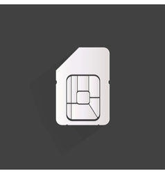 Sim card web icon vector image