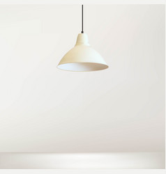 Simple lamp with white wall vector