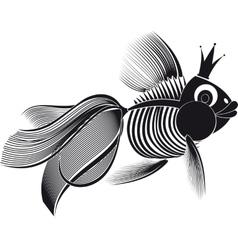 Skeleton goldfish vector
