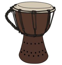Small wooden drum vector