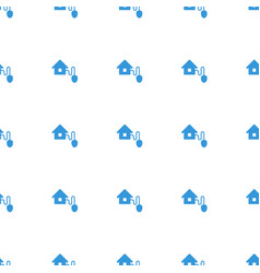 smart home icon pattern seamless white background vector image