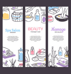 spa treatment banner background design for vector image