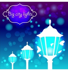 Streetlights with butterfly vector