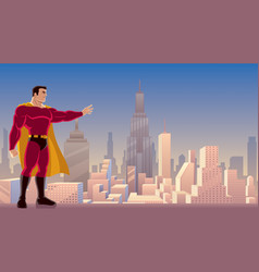 superhero power in city vector image vector image