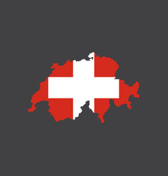 switzerland flag and map vector image