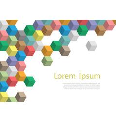 template banner or poster with polygonal and text vector image