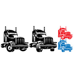 template with a trailer for long trips vector image