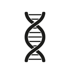 The dna icon Genetic symbol Flat vector image
