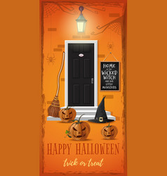 Vertical banner for a halloween night party vector