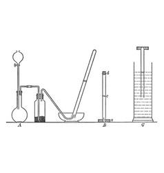 Volume composition of hydrogen chloride vintage vector