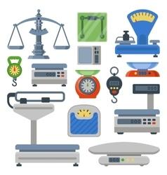 Weight measurement instrumentation tools vector