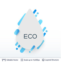 White badge drop sticker vector
