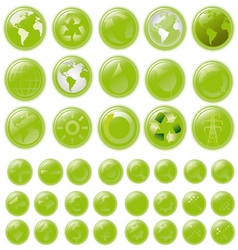 world buttons vector image
