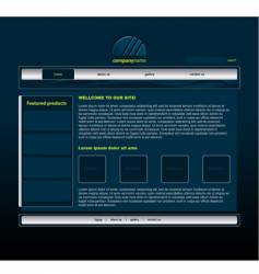 blue website vector image vector image