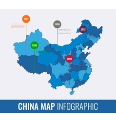 China map infographic template All regions are vector image
