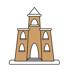 church cartoon silhouette vector image