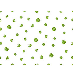 clover seamless pattern green leaves on a white vector image