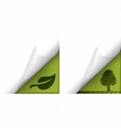 ecology page curled corners vector image vector image