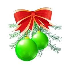 green Christmas ball vector image