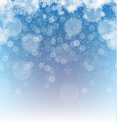Merry christmas abstract background snowfall vector