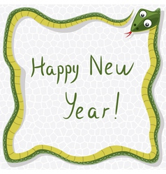 new year snake vector image vector image