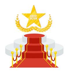 podium for cinema award vector image