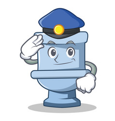 Police toilet character cartoon style vector