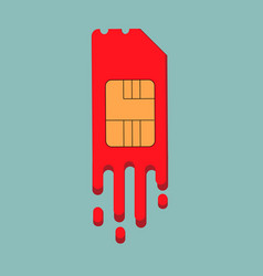sim card for smartphone vector image