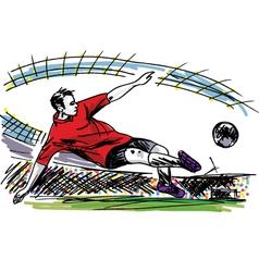 Soccer Player Kicking Ball vector image
