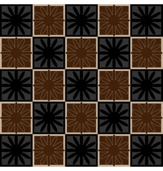 Squares seamless pattern brown colors vector image vector image