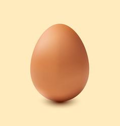 brown egg on a beige background vector image