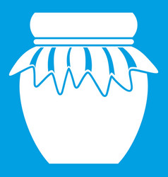 jam in glass jar icon white vector image vector image