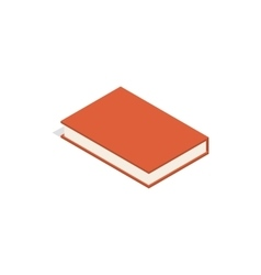Red book icon isometric 3d style vector image