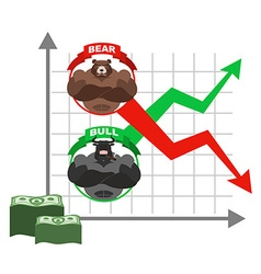 Rise and fall of quotations of dollar Bets on vector image vector image