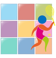 Sport icon design for tennis vector image