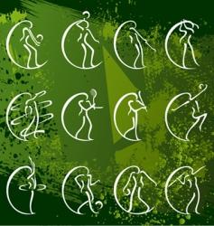 sport symbols vector image vector image