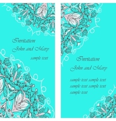 Wedding cards or invitation with abstract floral vector image vector image