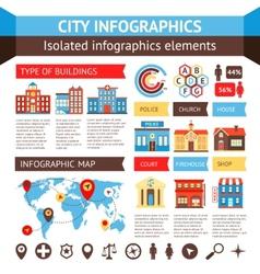 City infographics set vector image