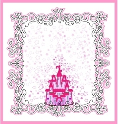 Invitation card with Magic Fairy Tale Princess vector image
