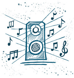 music speakers play music vector image