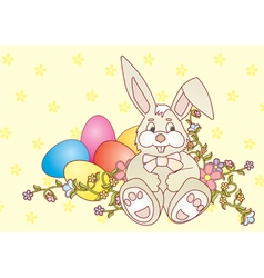 rabbit easter2 Converted vector image vector image