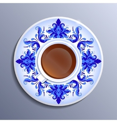 a cup of tea vector image vector image