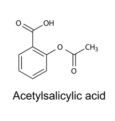 Aspirin - acetylsalicylic acid vector image