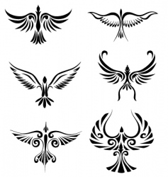Bird tribal tattoo vector
